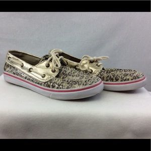 Sperry Top Sider Bahama Gold Sequins